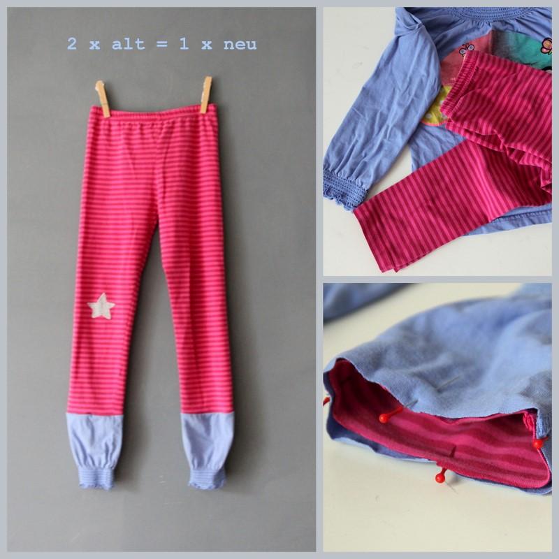 Leggings verlängern DIY Anleitung, Nähanleitung, Upcycling von zu kleiner Kleidung