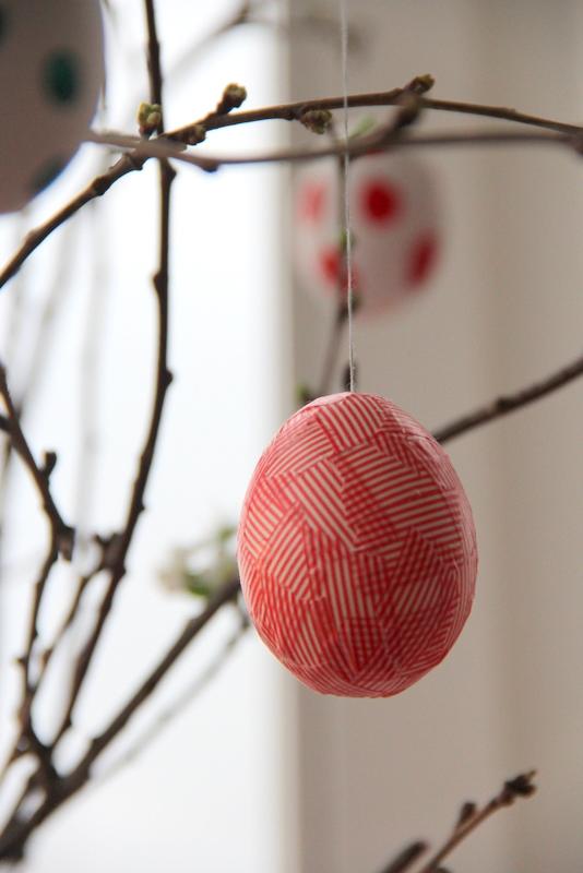 Ei mit Masking tape - egg with masking tape
