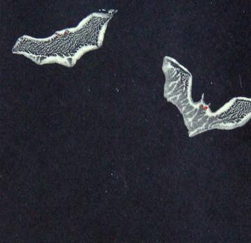 gedruckte, nachtleuchtende Fledermäuse