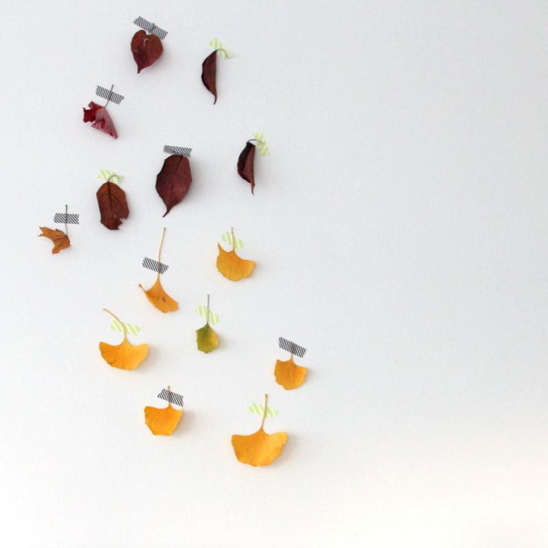 Basteln mit Blättern - Wanddekoration