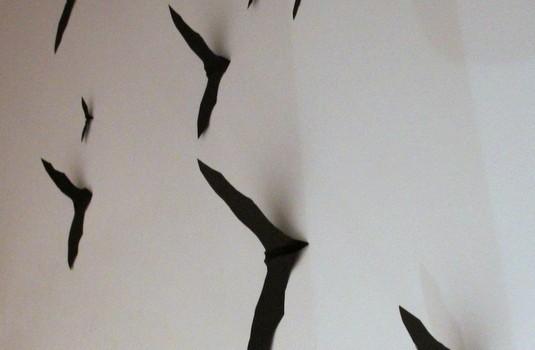 gebastelte Fledermäuse - bats