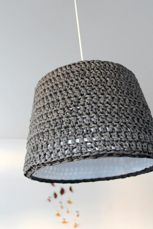 gehäkelter Lampenschirm Hängeleuchte - crochet lampshade
