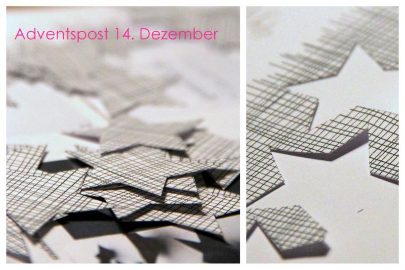 Adventspost 14. Dezember schwarz weiß