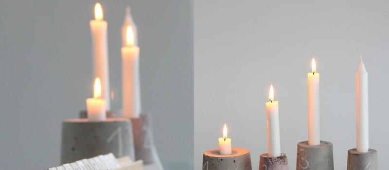 3. Advent Kerzenständer aus Beton