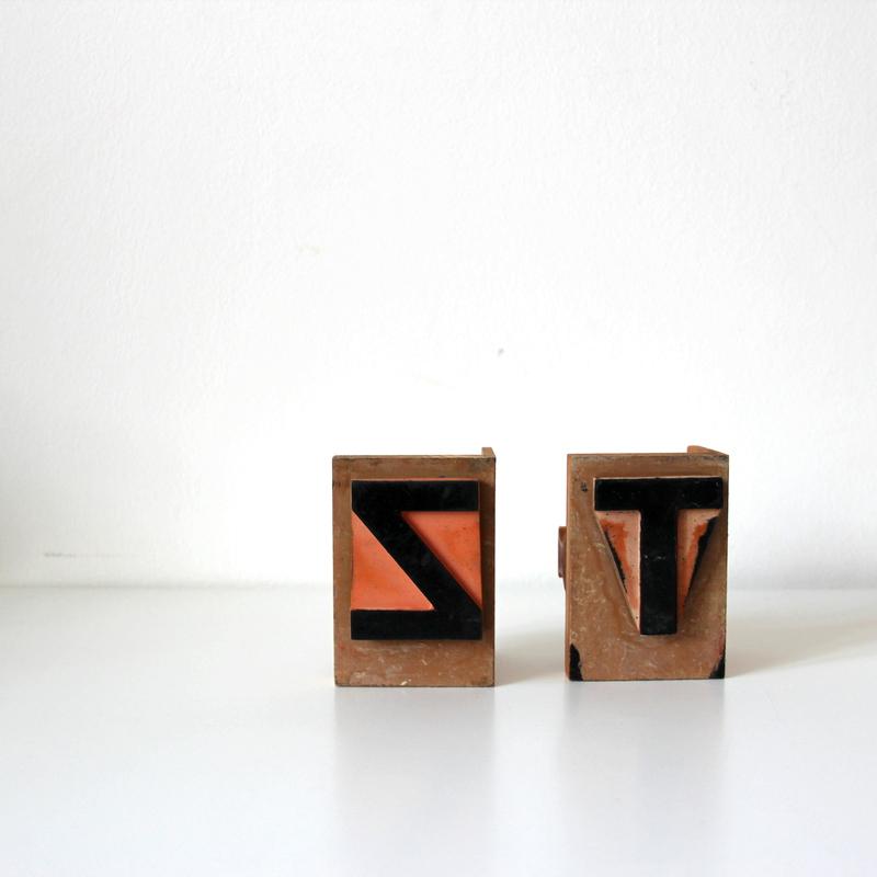 große Stempel - Buchstaben T und Z
