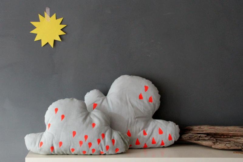 Kissen in Wolkenform