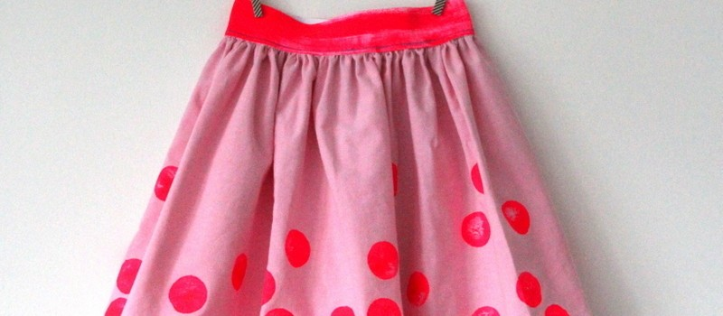 Polkadots Sommerrock für Mädchen