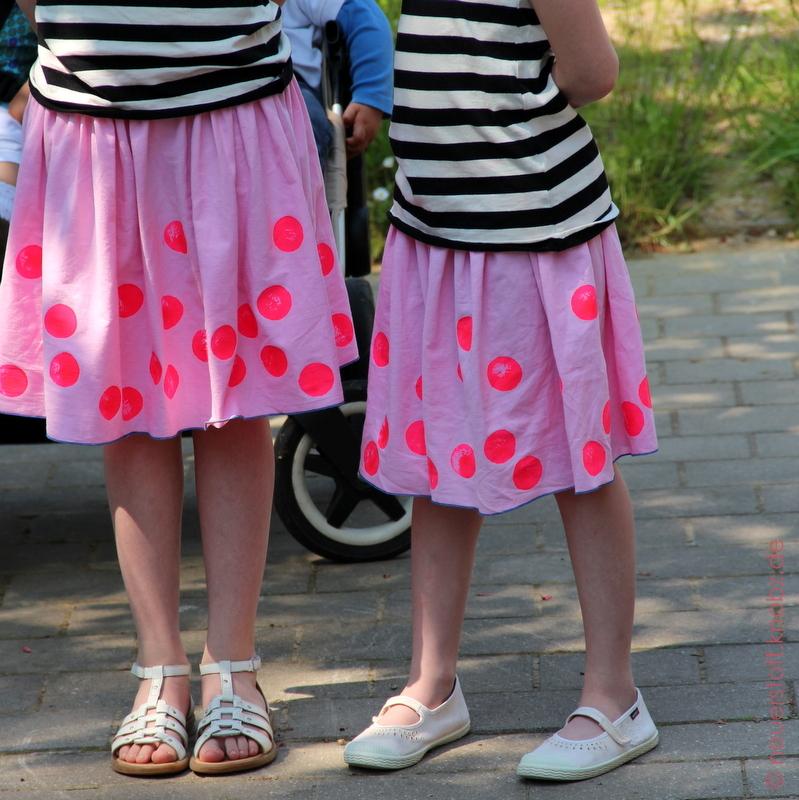 Nähanleitung einfache Röcke DIY, Mädchenröcke selber nähen