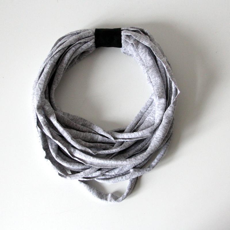 Wickelkette knobz grau mit Leder