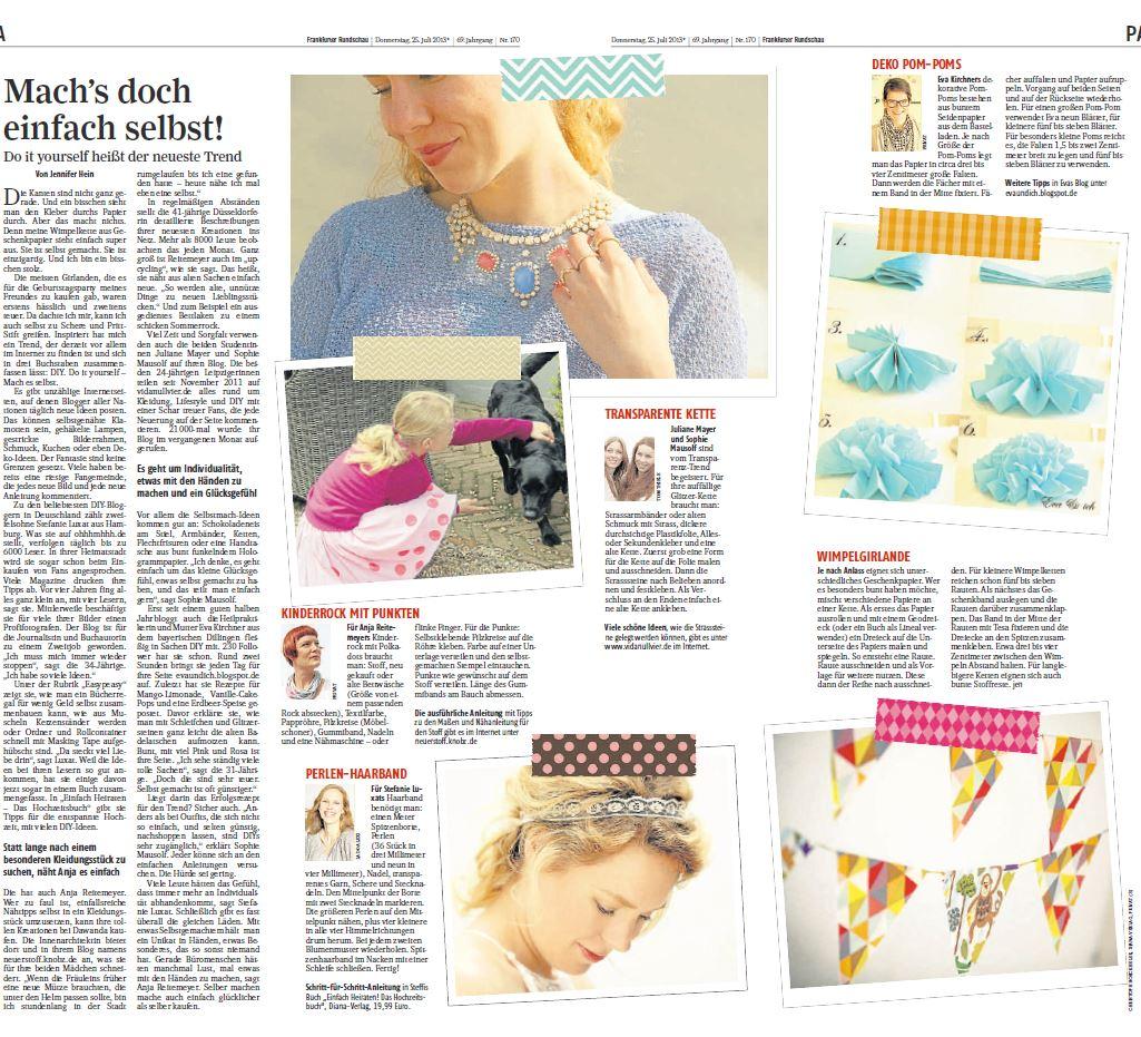 DIY - Frankfurter Rundschau 26.07.13