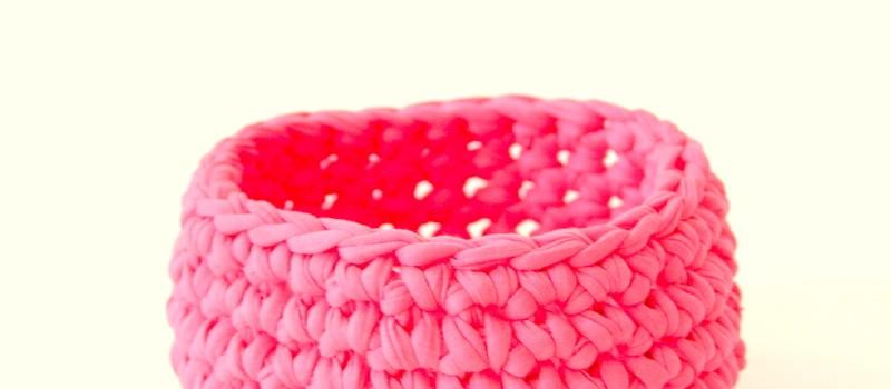 knobz - gehäkelte Schale rosa - das Wiener Zimmer