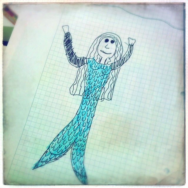 Meerjungfrau - Kinderkunst