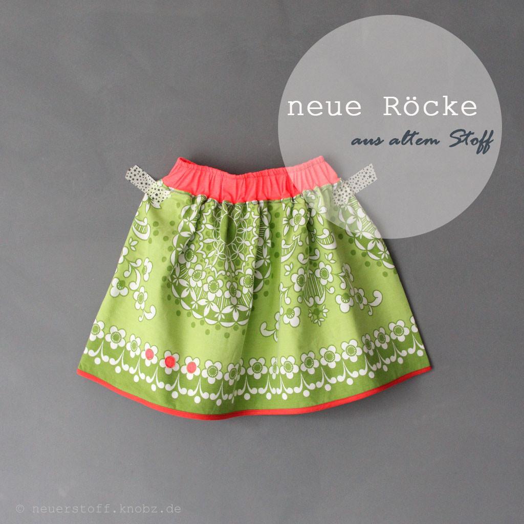neue Röcke aus alter Bettwäsche - Upcycling