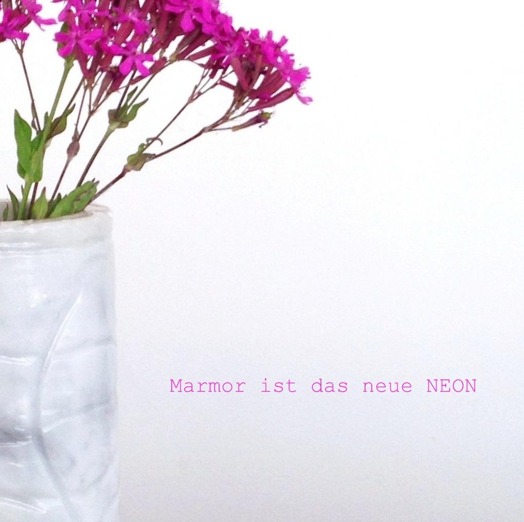 Marmor ist das neue Neon