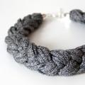 Flechtkette grau meliert für hello handmade - knobz