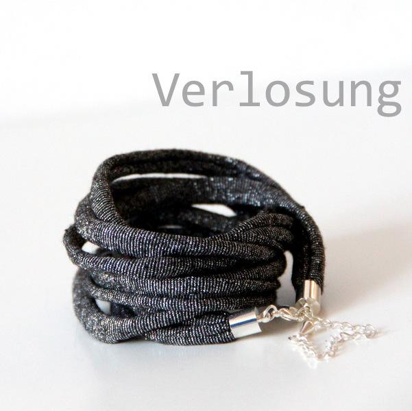 Verlosung - Wickelarmband schwarz - Glitzer2 (2)