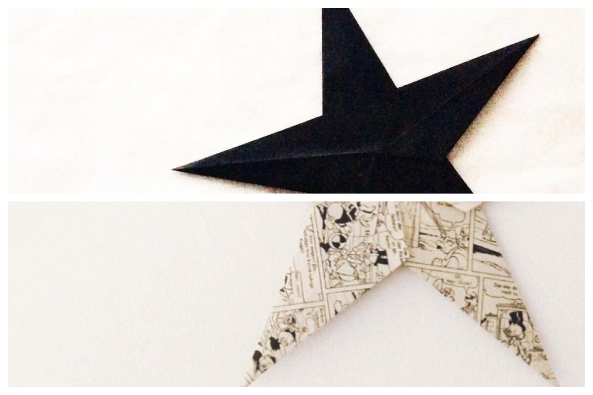 Sterne aus Papier falten - Origami