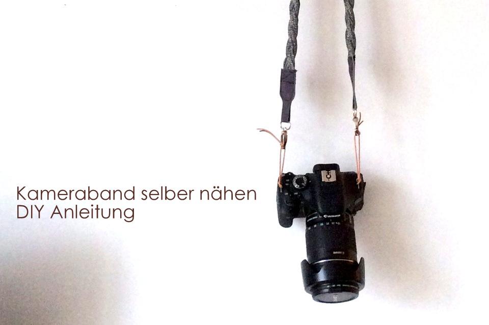 Kameraband selber nähen - knobz Anleitung