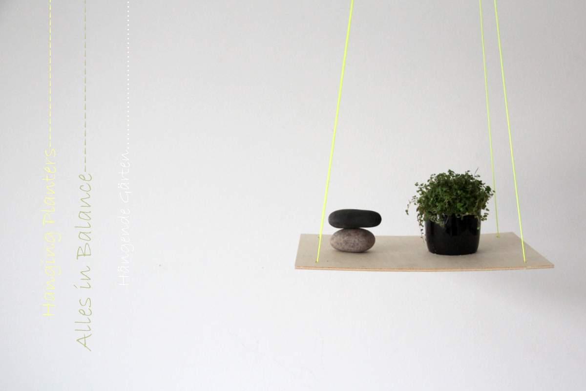 hanging planters _ hängende Gärten, Blumenampel DIY