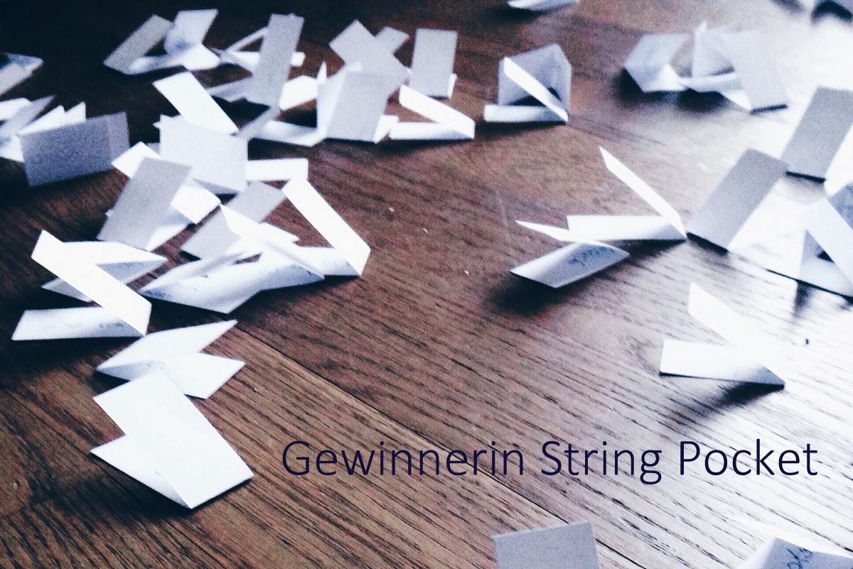 Verlosung String Pocket Regal - Gewinnerin knobz