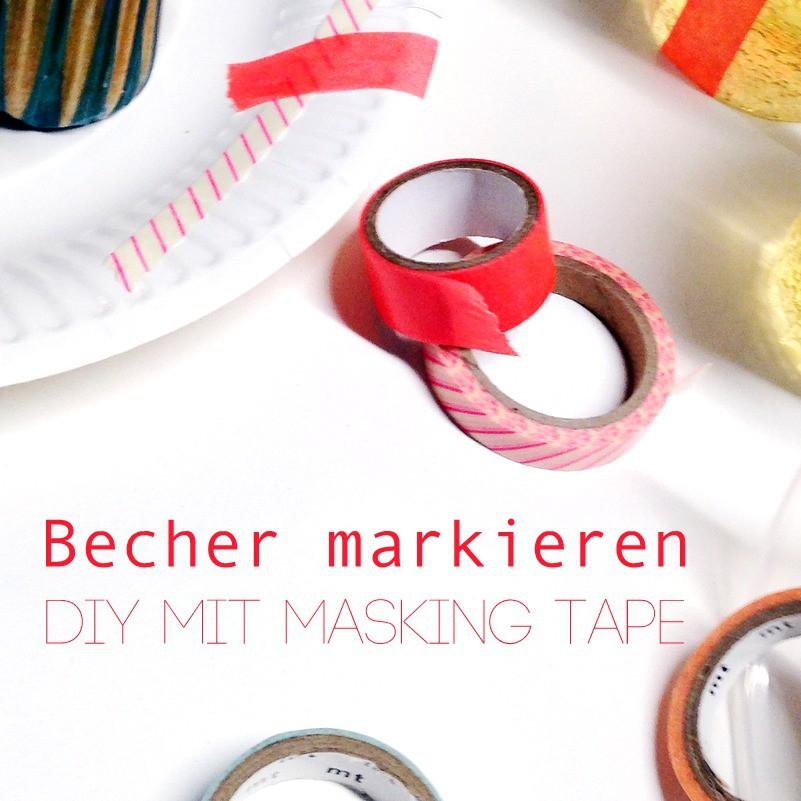 Silvester Deko mit Masking Tape