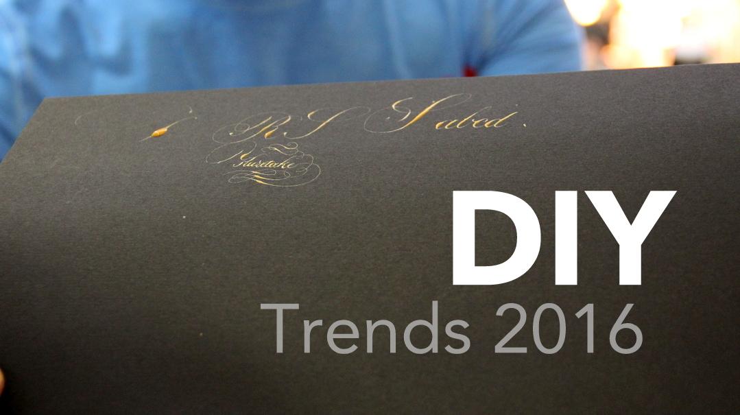 DIY Trends 2016 brushlettering