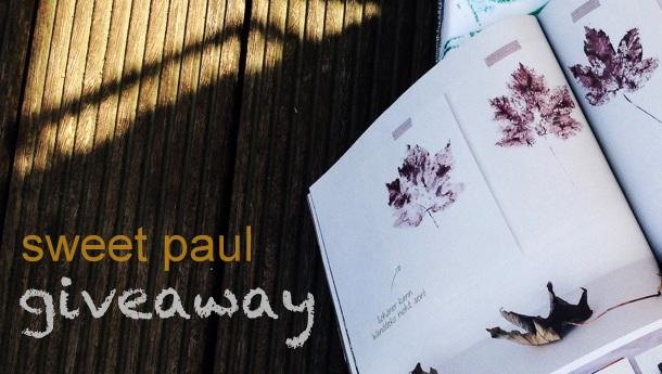 sweet paul giveaway Herbst Blätter drucken Anleitung