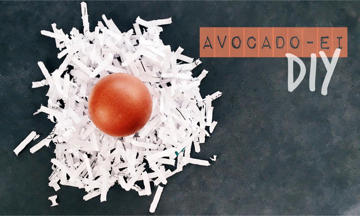 Ostereier färben mit Avocadoschale